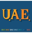Flat design United Arab Emirates vector image