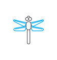 flying insects linear icon concept flying insects vector image vector image