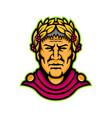 gaius julius caesar mascot vector image vector image