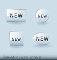 glass icon collection vector image vector image
