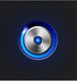 Glossy media player metal button vector | Price: 3 Credits (USD $3)
