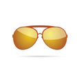gold sunglasses color vector image
