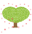 Green tree with heart shaped crown vector image vector image