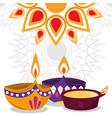 happy diwali festival diya lamps lights vector image vector image