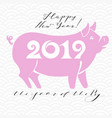 Happy new year 2019 funny card design