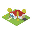 isometric small house vector image vector image