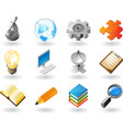 Isometric-style icons for science and industry vector | Price: 1 Credit (USD $1)