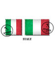 italy or italian flag pattern postage stamp with vector image vector image