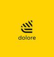 letter d line logo design creative vector image vector image