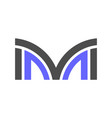 letter m logo icon concept vector image vector image