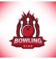 logo bowling club vector image vector image