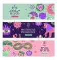 magic horizontal banners vector image