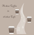 menu and logo for restaurant cafe bar coffee ho vector image