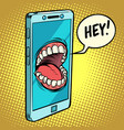 online assistant smartphone says vector image vector image