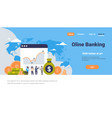 online banking money graph growth wealth concept vector image