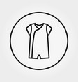 overalls jumpsuit icon editable thin vector image vector image