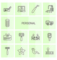 personal icons vector image vector image