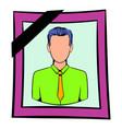 photo of deceased icon icon cartoon vector image vector image