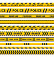 police black and yellow line do not cross vector image vector image