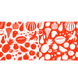 scandinavian hand drawn fruit seamless pattern vector image vector image