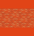 seamless brown brick pattern isolated wall vector image