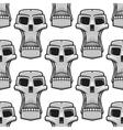 Seamless pattern of spooky Halloween skulls vector image