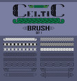 set of brushes in celtic style elements of vector image vector image