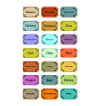 set of spice labels in retro style different vector image