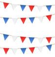 set patriotic bunting flags us flag garland vector image vector image