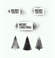 set stencil splash christmas elements vector image