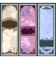 set three vintage bookmarks with map parts vector image vector image
