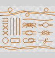 ship rope elements realistic marine loops vector image vector image