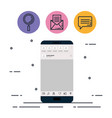 smartphone with applications menu vector image