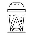 smoothie fresh icon outline style vector image vector image