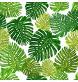 tropical leaves seamless pattern colorful isolated vector image vector image