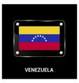 venezuela flag design card vector image