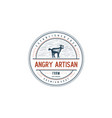 vintage rustic goat farm logo badge emblem vector image