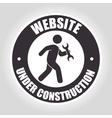 website under construction design vector image vector image