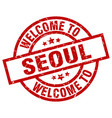 welcome to seoul red stamp vector image vector image