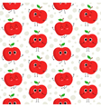 Apples seamless pattern vector image