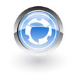 glossy icon round abstract vector image