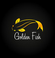 golden fish logo sea food logo bar restaurant vector image