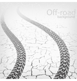 winding trace of the terrain tyres vector image