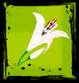 abstract green and lily vector image vector image