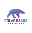 animal bear fur color logo vector image vector image