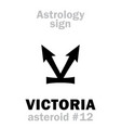 astrology asteroid victoria vector image vector image
