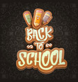 back to school background template with vector image