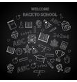 Back to school chalkboard sketch vector image vector image