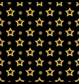 black christmas pattern background with golden vector image