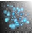 Blue lights bokeh effect EPS 10 vector image vector image